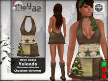 Yolanda Mesh Dress ~ xmas edition - chocolate christmas