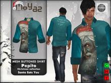 Pepito Buttoned Shirt ~ xmas edition - Santa Eats You
