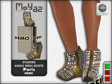 Paris Studded Ankle Mesh Boots - DEMO