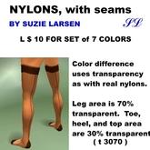 OnP Nylons with seam, set