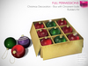 Full Perm Mesh Christmas Decoration - Set of Box with Ornamental Balls