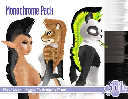 ::Static:: Mesh Equine Mane - Monochrome