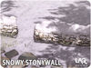 LAQ Decor ~ Snowy Stonewall