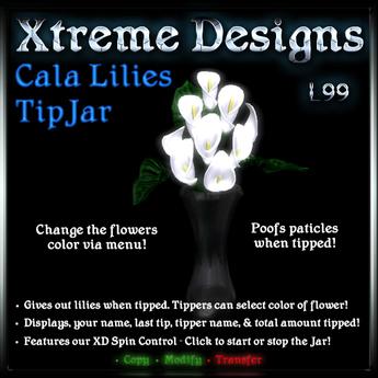 Xtreme Calla Lilies Tipjar