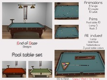 EoD Pool table Set