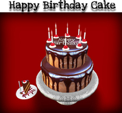 SALE! Birthday Cake Chocolate Raspberry Cake - touch for piece of cake