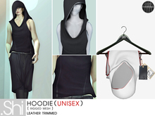 .Shi : Hoodie Unisex {White&Red} [Rigged Mesh]
