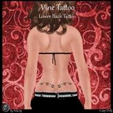 *Felicity* Vine Tattoo - Tattoo for Lower Back (Maitreya Slink Appliers, Classic Avatar Layers)