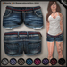 DN Mesh: Frayed Shorts - Blue