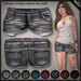 DN Mesh: Frayed Shorts -  Gray