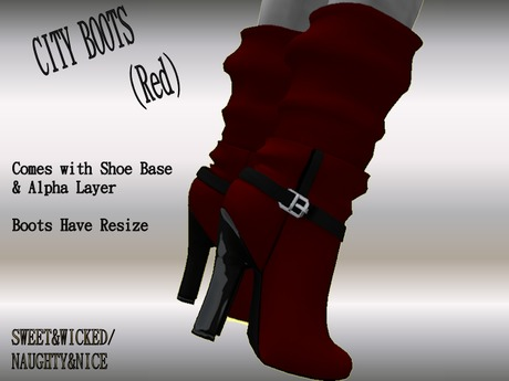 (N&N)City BOOTS (red).....