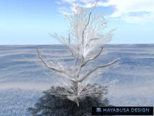 Winter Tree, Frozen white berry foliage, 2prims, Copy&Modify