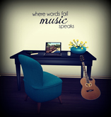Where Words Fail, Music Speaks Wall Decal ~ {Faith, Hope, Love}