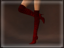 ::BnB:: Over the knee MESH boots~Cherry suede