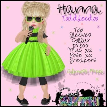 {C*K} Hanna in Lime Toddleedoo MP PROMO