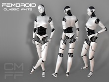 "CMFF FemDroid ""Classic White"" Mesh Avatar"