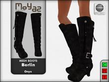 Berlin Mesh Boots - Onyx