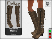 Berlin Mesh Boots - Caramel