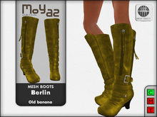 Berlin Mesh Boots - Old banana