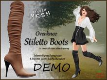 DEMO *Soulglitter* Mesh Overknee Stiletto Boots