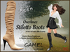 Stiletto boots leather camel ad