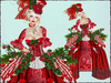 Boudoir Christmas -Christmas Carol Baroque Gown