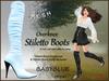 *Soulglitter* Mesh Overknee Stiletto Boots - Patent - baby blue