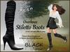 *Soulglitter* Mesh Overknee Stiletto Boots - Patent - black