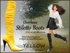 *Soulglitter* Mesh Overknee Stiletto Boots - Patent - yellow