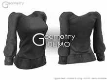 <Geometry> Cozy Sweater> DEMO ( rigged mesh in standard sizing )