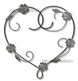 Floral Heart Metal Wall Art