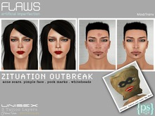 PS^ Flaws Zituation Outbreak (Tattoo Cosmetics /Realistic Face Scars) Unisex
