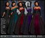 [Wishbox] Signora della Rosa (Megapack) -- Five Colors - Medieval Fantasy Gown -- Renaissance Goth Gothic Dress