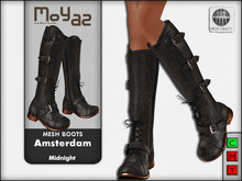 Amsterdam Mesh Boots - Midnight