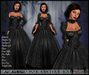 [Wishbox] Signora della Rosa (Black) -- Medieval Fantasy Gown -- Renaissance Goth Gothic Formal Role Play Dress
