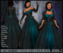 [Wishbox] Signora della Rosa (Blue Teal) -- Medieval Fantasy Gown -- Renaissance Goth Gothic Formal Role Play Dress