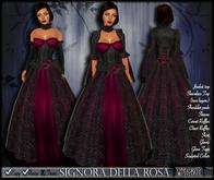 [Wishbox] Signora della Rosa (Magenta) -- Medieval Fantasy Gown -- Renaissance Goth Gothic Formal Role Play Dress *Gor