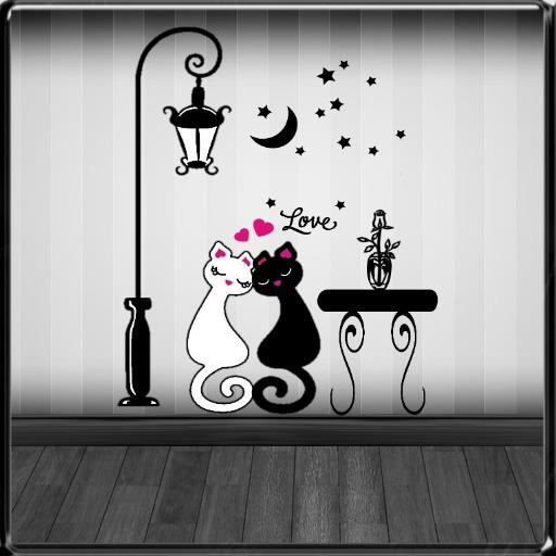 *~LT~* Love Cats Wall Art Decal