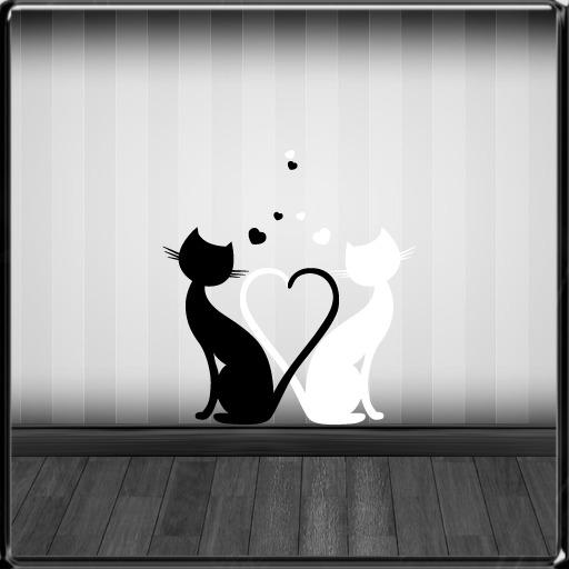 *~LT~* Heart Love Cats Wall Art Decal