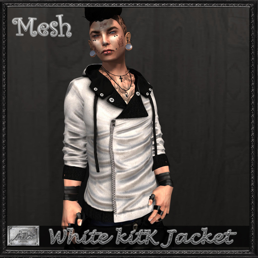 [M.o.w] White KitK Jacket (Bag Wear & Touch)