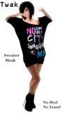 *Twak* Ladies Long Sweater Swagger
