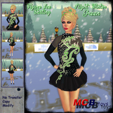 ::MCB:: Figure Skating - Night Winter Dress - The most beautiful ice skater - With cold breath and Gemstones - Green