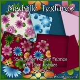 Madville Textures - Summer Flower and Plain Fabric Textures