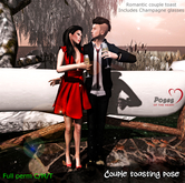 Poses of the Heart- Couple toast full perm pose-