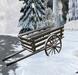 Wintertime in SL: Old snowy farm wheel cart (2 Prim, sculpted)