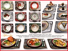 """""""Family Holidays"""" Thanksgiving Placemat & Christmas placemat, two in one!"""