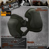 D1-MTG StreetFighter Combat Knee Protection OLIVE DRAB