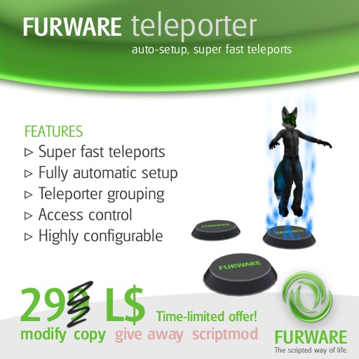 FURWARE teleporter - v4.0 Special Offer!