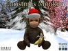 Christmas Monkey With Red Santa Hat
