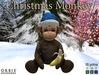 Christmas Monkey With Blue Santa Hat
